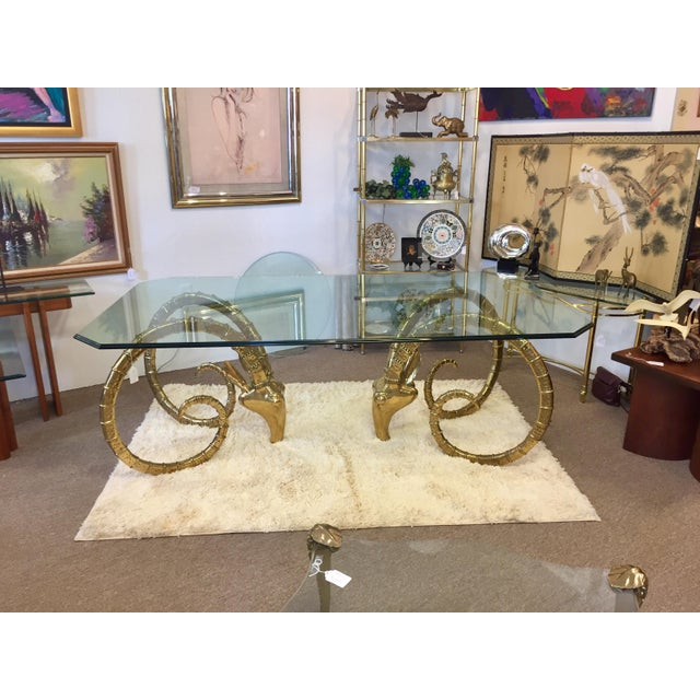 Solid Brass Vintage Ibex Dining Table For Sale - Image 11 of 14