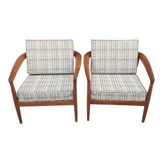 20th Century Scandinavian Modern Folke Ohlsson for Dux Teak Lounge Chairs - a Pair