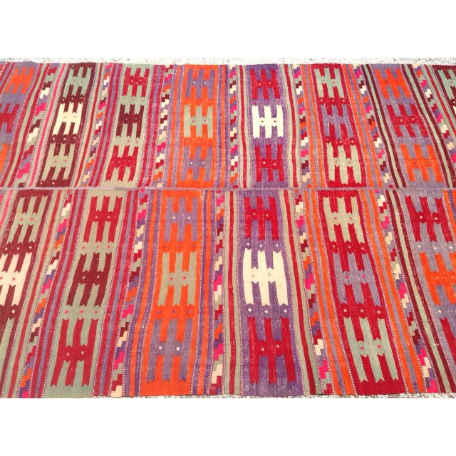 Vintage Turkish Kilim Rug - 5′1″ × 8′8″ For Sale - Image 4 of 7