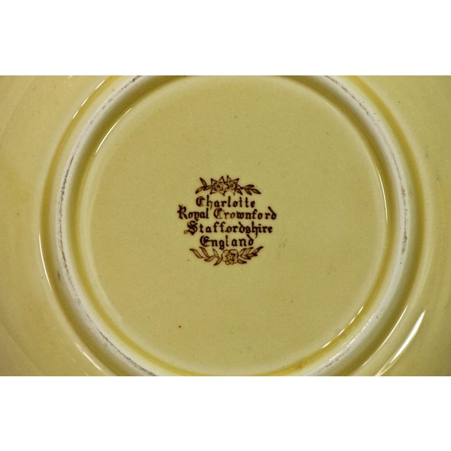 "English Traditional Antique Staffordshire ""Charlotte"" Vegetable Bowl For Sale - Image 3 of 4"