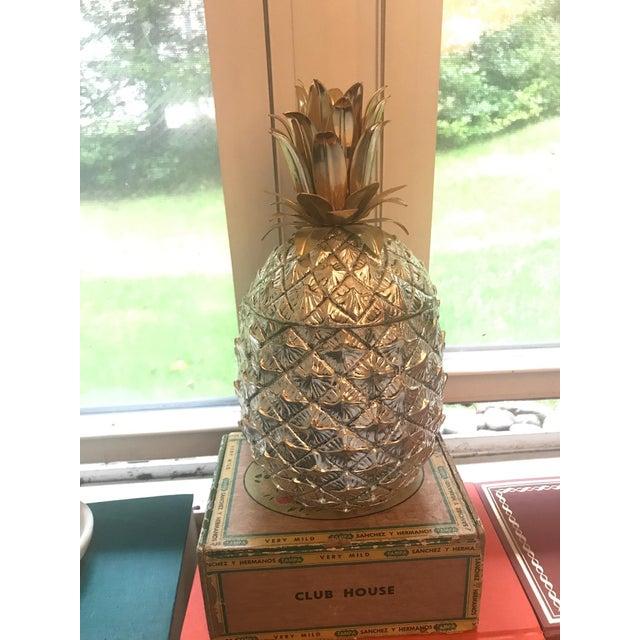 Mid 20th Century Vintage Italian Mauro Manetti Metal Clad Pineapple Ice Bucket For Sale - Image 5 of 5