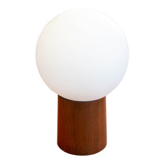 1960's Laurel Globe Lamp With Walnut Base For Sale