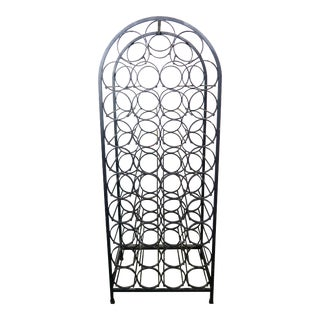 Wrought Iron Wine Rack by Arthur Liminoff For Sale