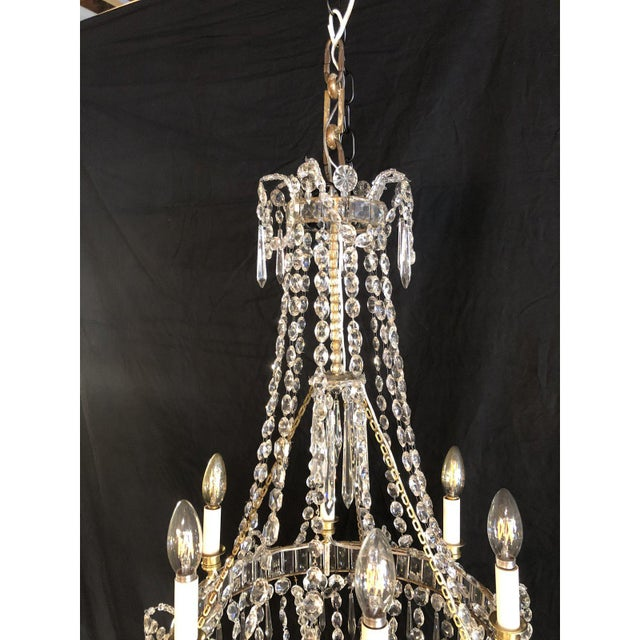Louis XVI Louis XV Style Traveling Crystal Chandelier For Sale - Image 3 of 6