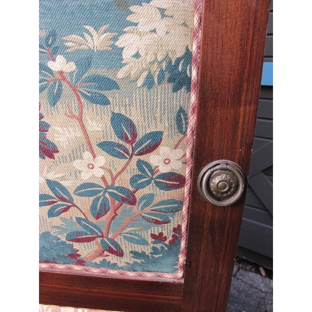 Antique Fabric Covered Folding Screen For Sale - Image 4 of 6