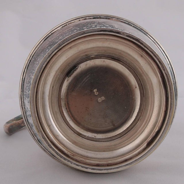 German Sterling Silver Georgian Style Pitcher 9.4 Toz Darmstadt, 19th Century For Sale - Image 6 of 13