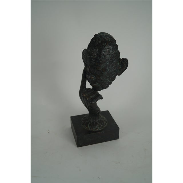 Maitland Smith Bronze Hands & Face Sculpture AGE/COUNTRY OF ORIGIN: Approx 10 years, Philippines DETAILS/DESCRIPTION:...
