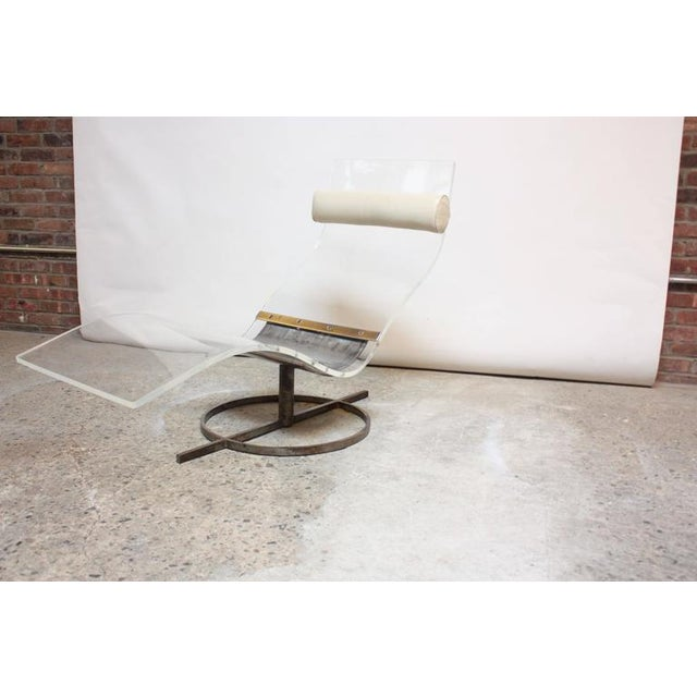 Mid-Century French Lucite and Steel Chaise Longue Prototype - Image 8 of 10