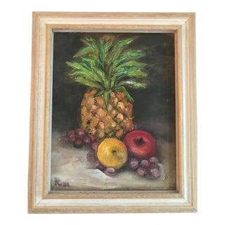 Original Pineapple Still Life Oil Painting