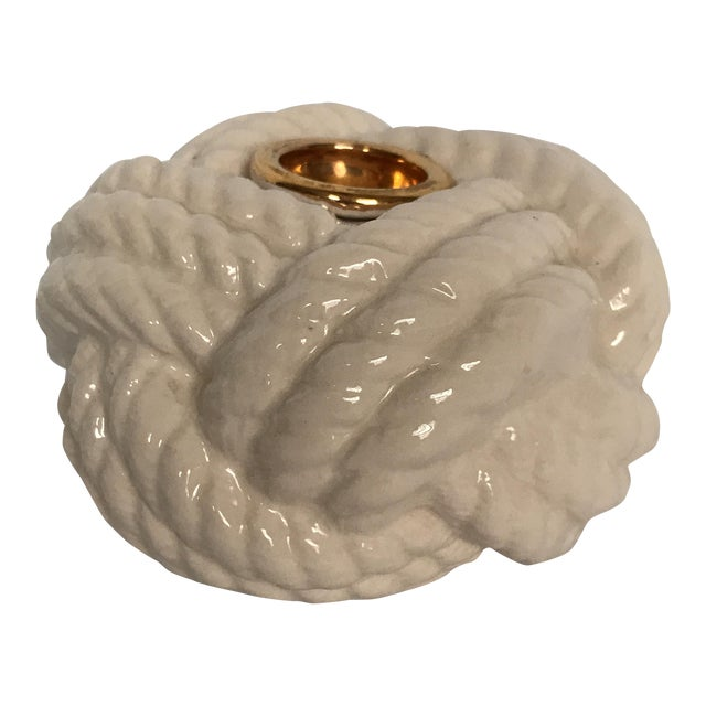 Nautical Porcelain Knot Candle Holder - Image 1 of 7