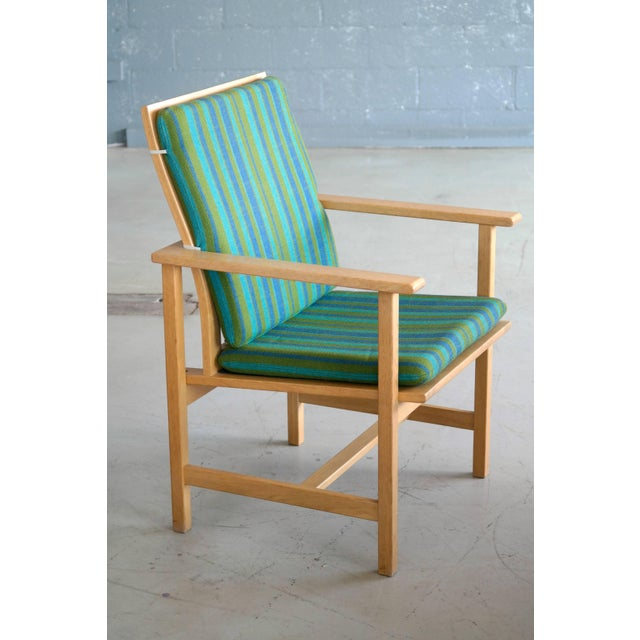 1960s 1960s Børge Mogensen Model 2257 Oak Lounge Chair for Fredericia Stolefabrik For Sale - Image 5 of 10