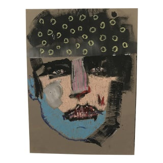 Signed Original Expressionist Portrait by Toby Frossell For Sale