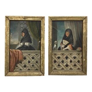 19th Century Spanish School Paintings - a Pair For Sale