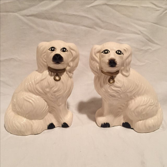 White Porcelain Dogs - A Pair - Image 2 of 6