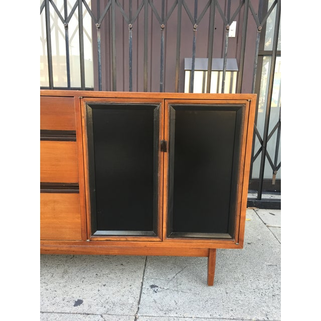 Mid Century Lowboy Dresser With Hidden Vanity by H.Paul Browning for Stanley Furniture Co. For Sale - Image 10 of 13