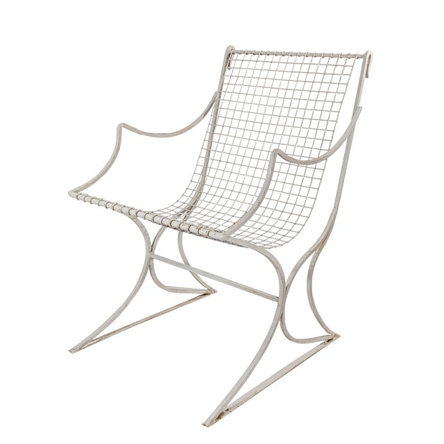 Salterini Mid-Century Modern White Metal Chairs - Set of 4 For Sale - Image 9 of 13