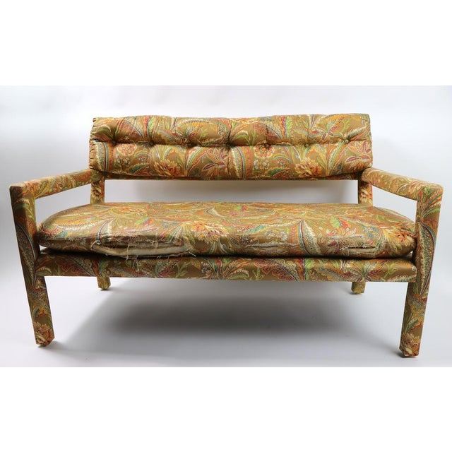 Groovy All Upholstered Bench by Classic Gallery Inc. After Baughman For Sale - Image 9 of 12