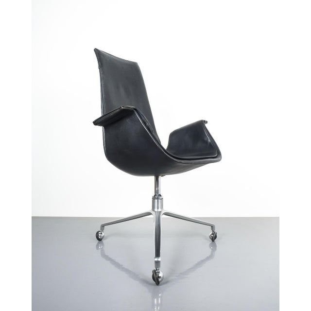 Black Blue High Back Bird Desk Chair by Fabricius and Kastholm Fk 6725, 1964 For Sale - Image 12 of 12