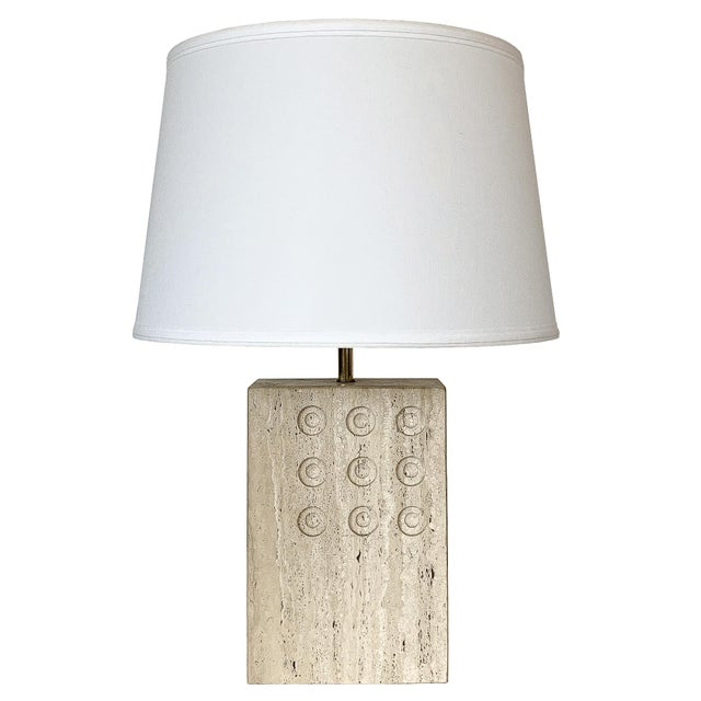 Italian Travertine Table Lamp by Reggiani for Raymor For Sale - Image 12 of 12