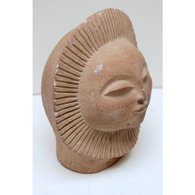 Mid-Century Sun Face Sculpture For Sale - Image 5 of 9