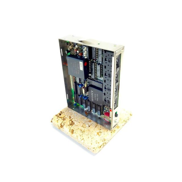 Industrial Sony Circa Mid-20th Century Television Time Code Circuit Board on Stone For Sale - Image 3 of 7