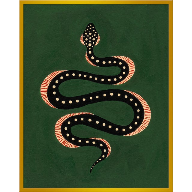 "Contemporary Large ""Apple the Snake"" Print by Willa Heart, 32"" X 40"" For Sale - Image 3 of 3"