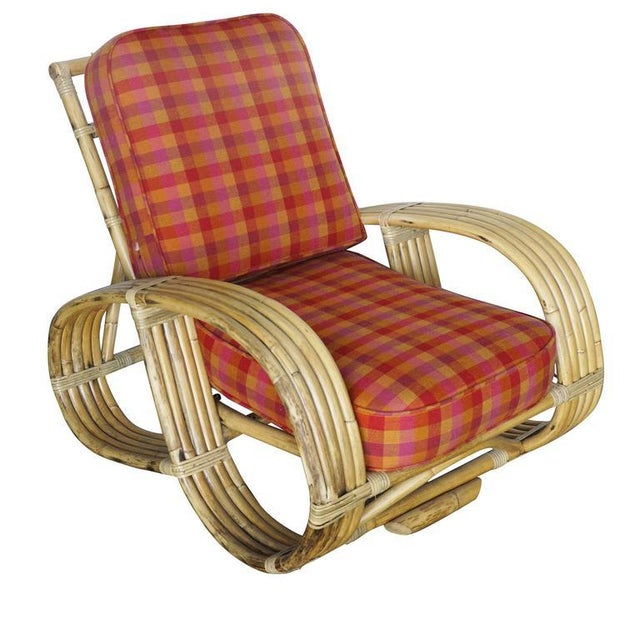 "Restored Rare Five-Strand ""Reverse Pretzel"" Rattan Living Room Set For Sale In Los Angeles - Image 6 of 9"