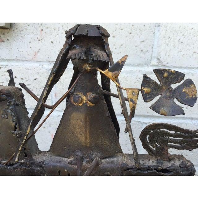 Jack Hanson Vintage Mid-Century Jack Hanson for Hanson House Metal Brutalist Horse Sculpture For Sale - Image 4 of 9