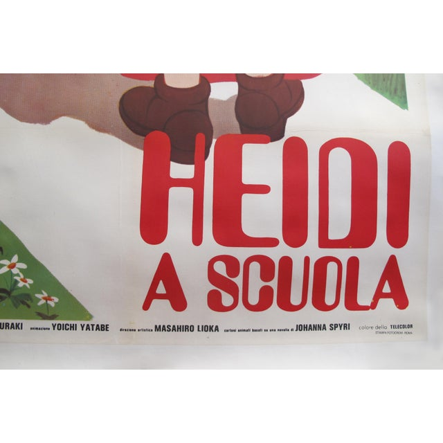 1980s 1985 Original Oversize Movie Poster (Italian Version) - Heidi For Sale - Image 5 of 6