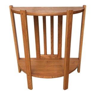 Arts and Crafts Oak Side Table For Sale