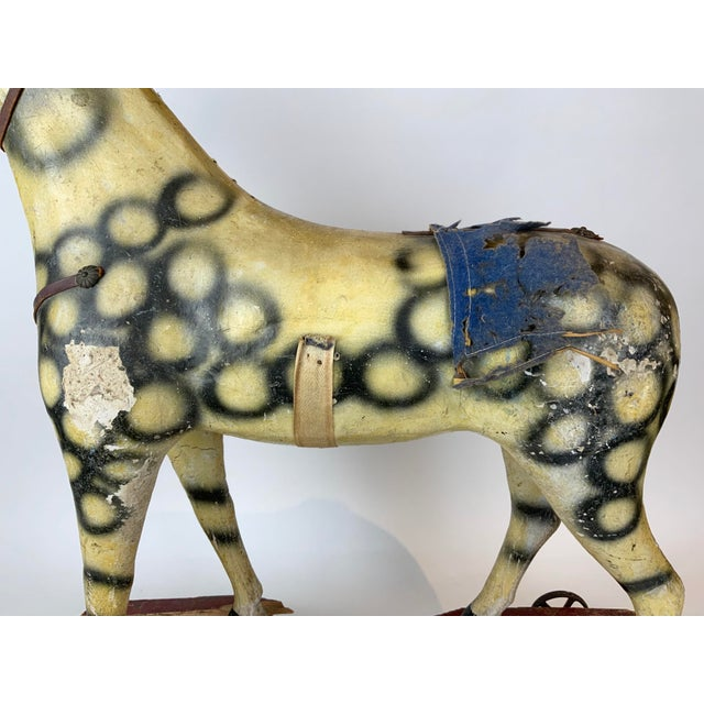Wood Late 19th Century Painted Toy Horse For Sale - Image 7 of 13