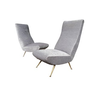 Italian Mid-Century Modern Chairs in the Manner of Marco Zanuso - a Pair