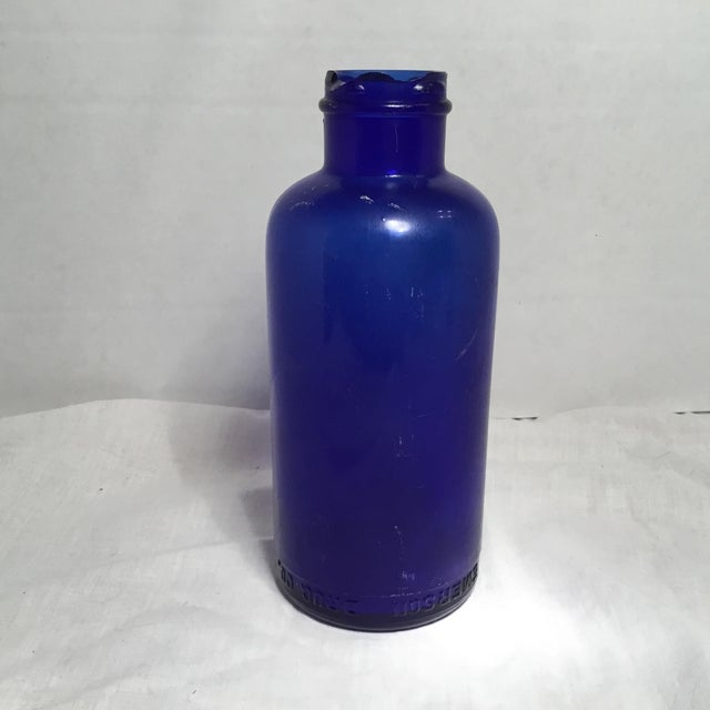Country Deep Cobalt Blue Apothecary Bottle For Sale - Image 3 of 11