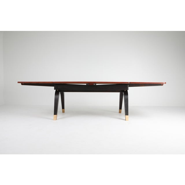 Art Deco Extendable Dining Table For Sale - Image 4 of 11