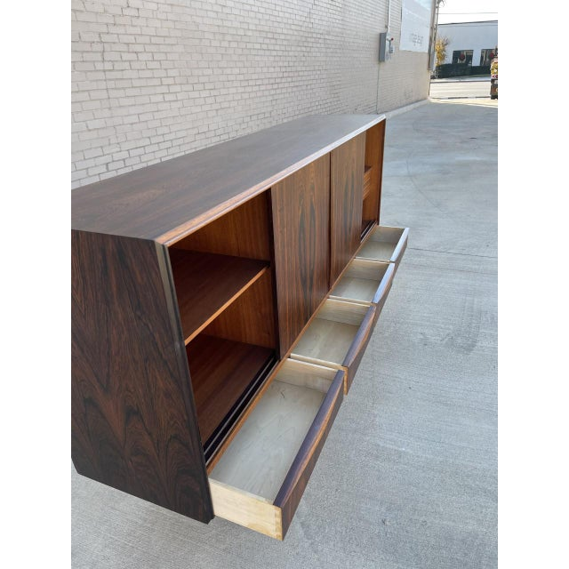 Arne Vodder Style Rosewood Highboard For Sale In Dallas - Image 6 of 11