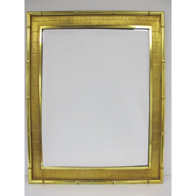 1960s Boho Chic Syroco Faux Bamboo Mirror For Sale - Image 10 of 10