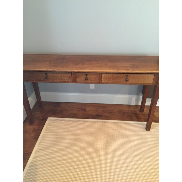 Antique Three-Drawer Console Table - Image 6 of 11