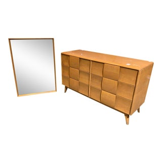 Heywood Wakefield Dresser With Mirror For Sale