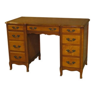 1970s French Provincial Sligh Partner Desk For Sale