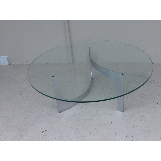 Mid Century Modern Aluminum Sculptural Table by Knut Hesterberg by Bacher Tische For Sale - Image 11 of 11