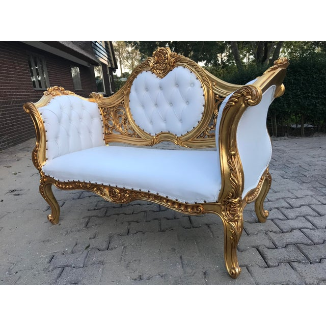 French Louis XVI Style Settee For Sale - Image 9 of 12
