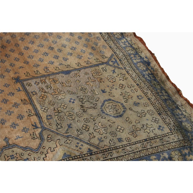1910s Early 20th Century Antique Oushak Waterloo Design Rug - 11′9″ × 15′5″ For Sale - Image 5 of 13