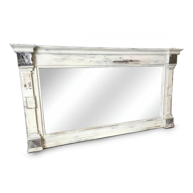 Scandinavian Painted Reclaimed Wood Mirror - Image 6 of 6