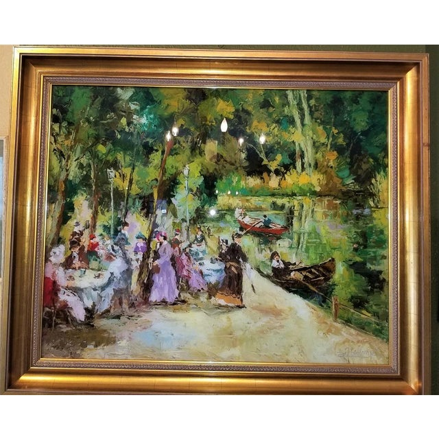 Remo Mario Trentini Reverse Oil on Glass For Sale - Image 9 of 13