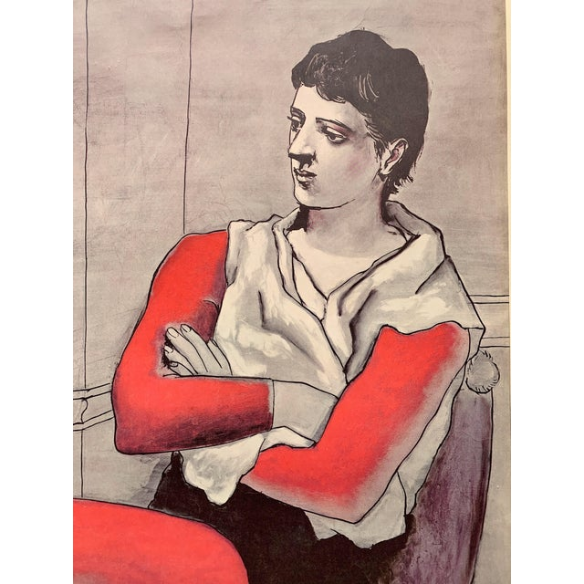 """Expressionism 1970s Vintage Pablo Picasso """"The Seated Acrobat"""" Lithograph Print For Sale - Image 3 of 7"""