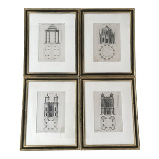 19th Century Gothic Architecture Prints by Batty Langley - 4 Pieces For Sale