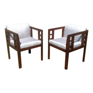 Mid-Century Modern Accent Chairs - A Pair For Sale
