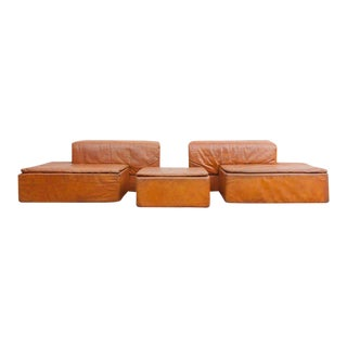"Modular Set of ""Paione"" Leather Sofa's by Claudio Salocchi for Sormani For Sale"