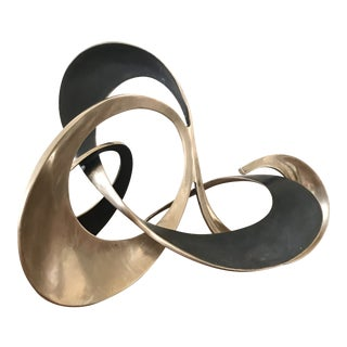 Bob & Tom Bennett Style Bronze Abstract Sculpture Mid-Century Modern For Sale