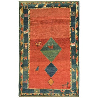 Mansour Original Handmade Persian Gabbeh Rug For Sale
